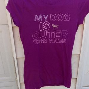 VS PINK dog t-shirt awesome!